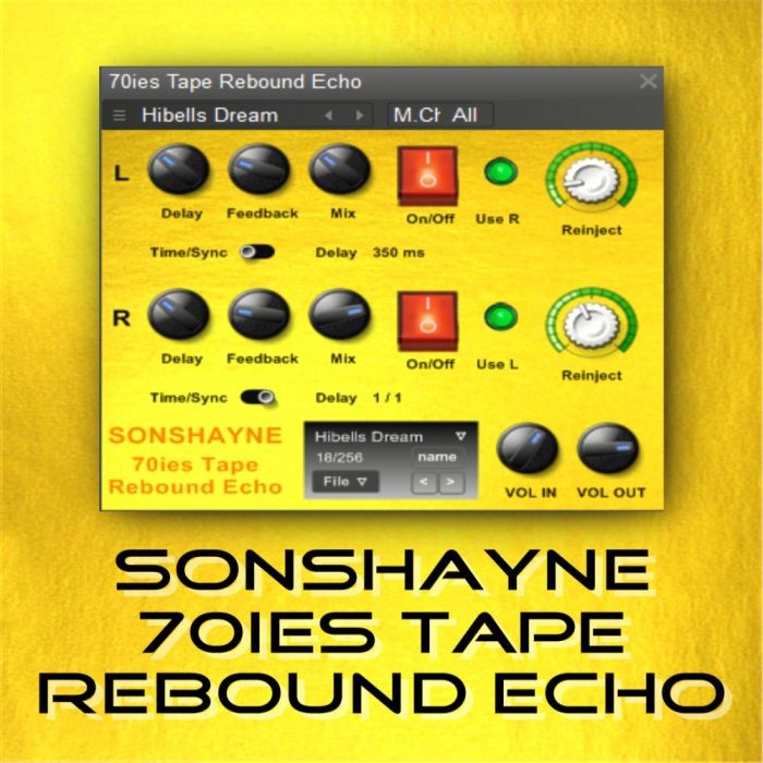 Sonshayne Sounds 70s Tape Rebound Echo VST-MAGNETRiXX