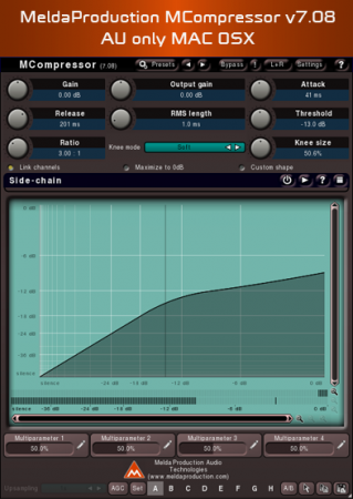 MeldaProduction MCompressor v7.08 AU only MAC OSX