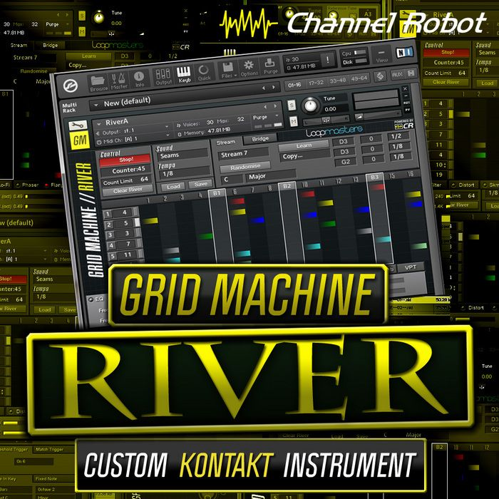 Channel Robot Grid Machine River KONTAKT-MAGNETRiXX