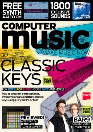 Computer Music CM191 June 2013 Classic Keys Cover Disk Content