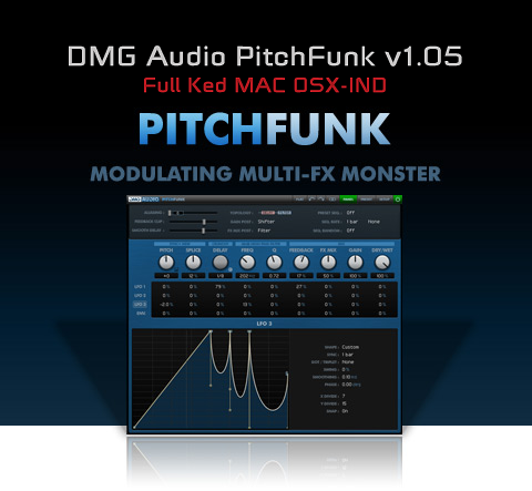DMG Audio PitchFunk v1.05 Full Ked MAC OSX-IND