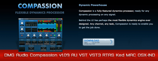 DMG Audio Compassion v1.09 AU VST VST3 RTAS Ked MAC OSX-IND