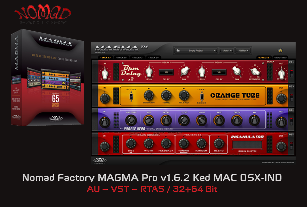 Nomad Factory MAGMA Pro v1.6.2 Ked MAC OSX-IND