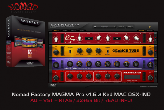 Nomad Factory MAGMA Pro v1.6.3 Ked MAC OSX-IND