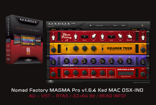 Nomad Factory MAGMA Pro v1.6.4 Ked MAC OSX-IND