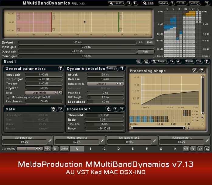 MeldaProduction MMultiBandDynamics v7.13 AU VST Ked MAC OSX-IND