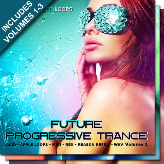 Producer Loops Future Progressive Trance Bundle Vols 1-3 WAV MiDi REX2