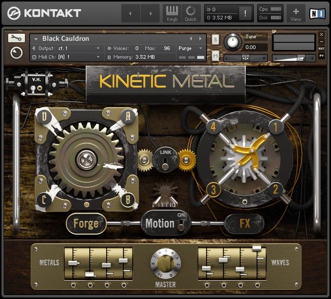 Native Instruments KINETIC METAL v1.1 KONTAKT UPDATE