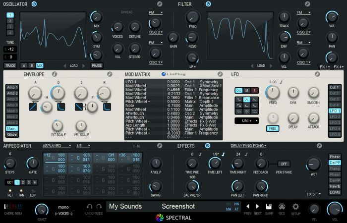 LinPlug Spectral v1.2.2 Incl.Patch and Serial WORKING WiN/MAC-R2R
