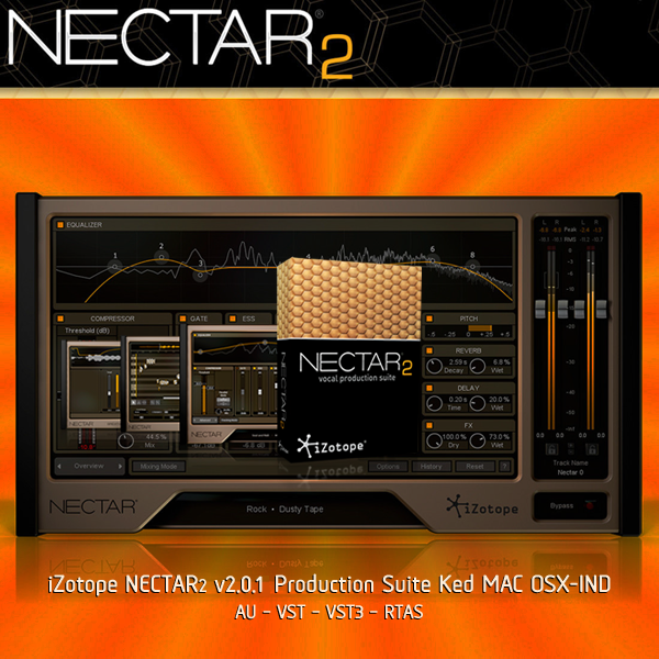 iZotope NECTAR2 v2.0.1 Production Suite Ked MAC OSX-IND