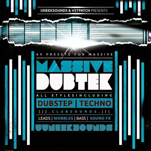 Uneek Sounds Massive DubTek for NI Massive-6581
