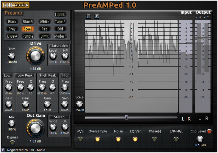 LVC-Audio PreAMPed v1.0.0 MacOSX Incl Patched and Keygen-R2R