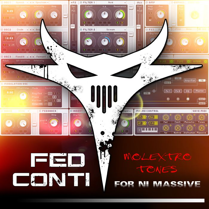 Fed Conti Audio Tools Fed Conti Molextro Tones for NI Massive MULTiFORMAT-MAGNETRiXX
