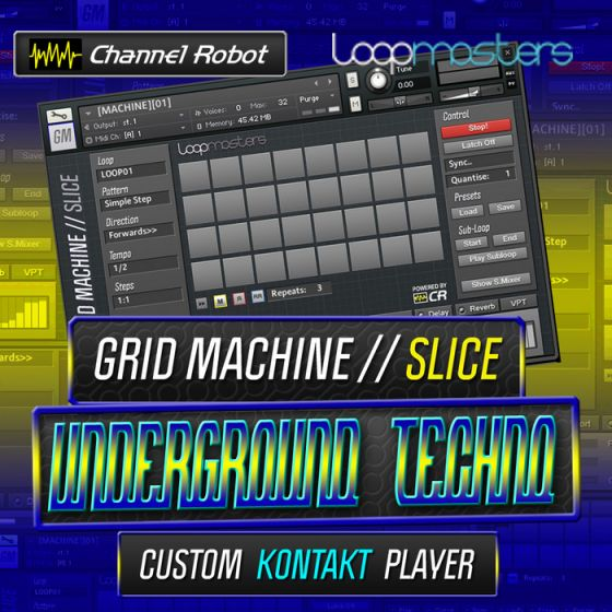Channel Robot Grid Machine Slice Underground Techno KONTAKT-MAGNETRiXX