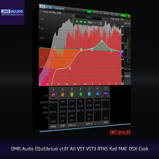 DMG Audio EQuilibrium v1.07 AU VST VST3 RTAS Ked MAC OSX-Cook