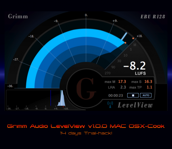 Grimm Audio LevelView v1.0.0 MAC OSX-Cook +Trial hack