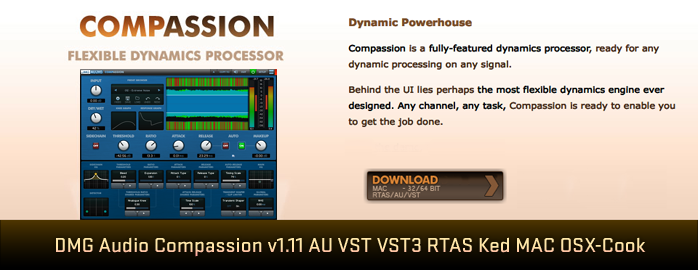 DMG Audio Compassion v1.11 AU VST VST3 RTAS Ked MAC OSX-Cook