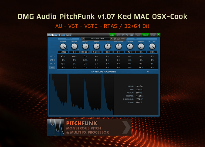DMG Audio PitchFunk v1.07 Ked MAC OSX-Cook