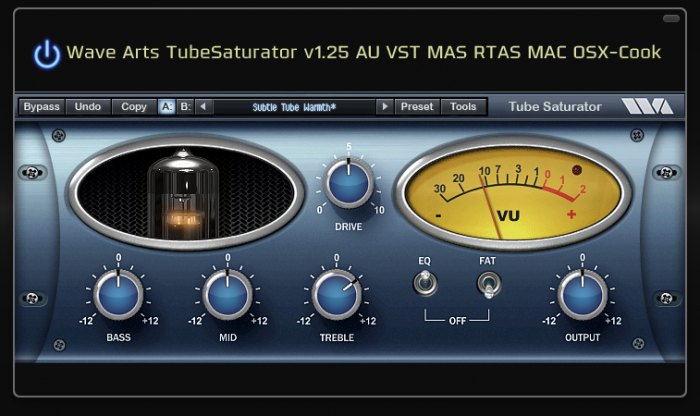 Wave Arts TubeSaturator v1.25 AU VST MAS RTAS MAC OSX-Cook