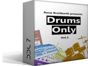 Deep Data Loops Rene Breitbarth Drums Only Vol.1 WAV-DYNAMiCS