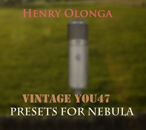 Henry Olonga Vintage You47 Microphone for Nebula 192 khz-MAGNETRiXX